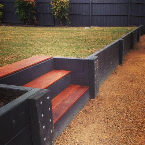 retaining walls geelong timber precast concrete brick