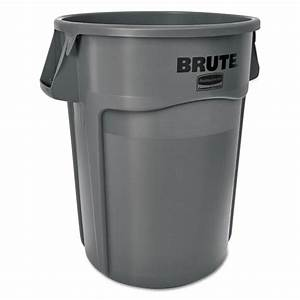 Shop Rubbermaid Commercial Products Brute 55-Gallon Gray ...