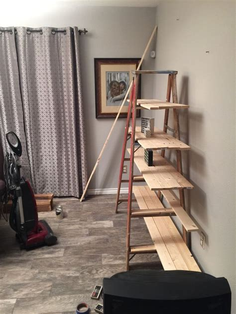 hometalk  wooden ladder transformed   country