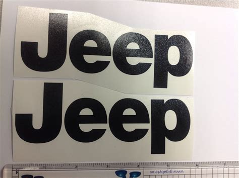 jeep vinyl decals jeep wrangler cj yj replacment fender vinyl decal sticker
