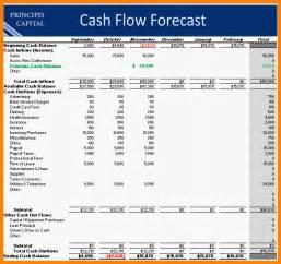 Forecast Cash Flow Projection Template