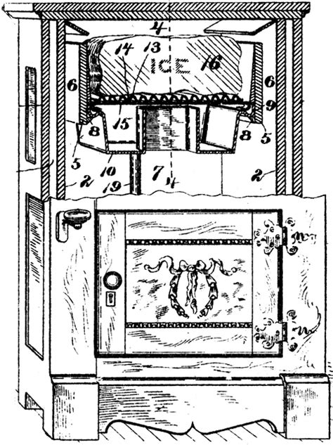 Early Model Refrigerator   ClipArt ETC
