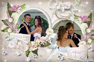 Cadre Photo Mariage : montage photo mariage gratuit en ligne ~ Teatrodelosmanantiales.com Idées de Décoration