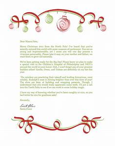 santa claus letter new calendar template site With a letter from santa claus