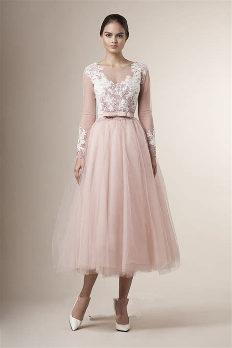 2016 Special Tea Length Junior Bridesmaid Dresses Sheer