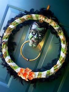 Halloween, Wreath, With, Vampire, Door, Knocker, U0026, Spiders, Mostly, From, Dollar, Tree, Stuff