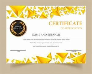 Certificate Template Gold Design Vector