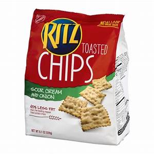 Nabisco Ritz Toasted Chips - Sour Cream And Onion - 8.1 OZ ...