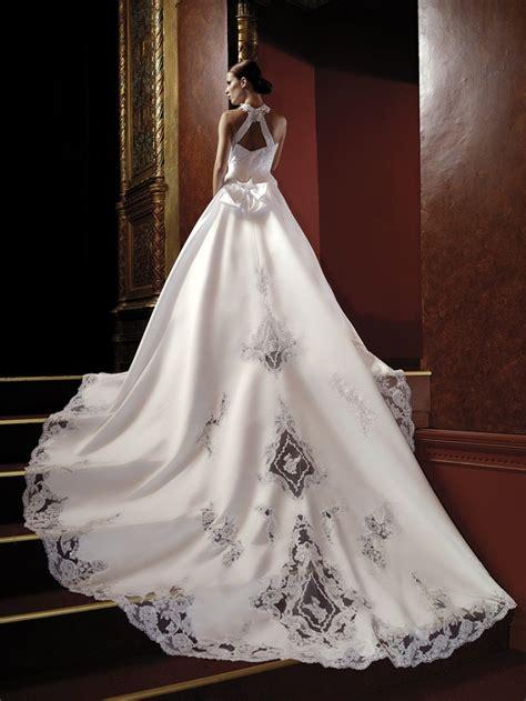 best wedding dress designer lacy black on white satin expensive custom design