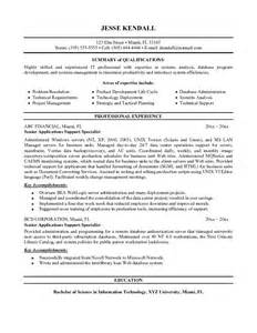 it support specialist resume exles exle application support specialist resume sle