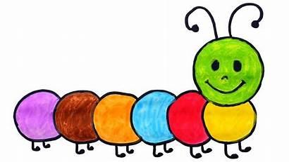 Caterpillar Drawing Draw Cartoon Coloring Clipart Colors