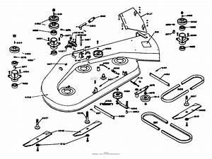 Dixon Ztr 421  1975  Parts Diagram For Mower Deck Assembly