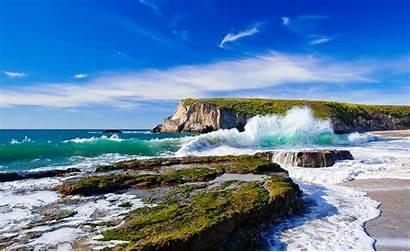 Landscape Nature Cliff Waves Sea Coast Rock