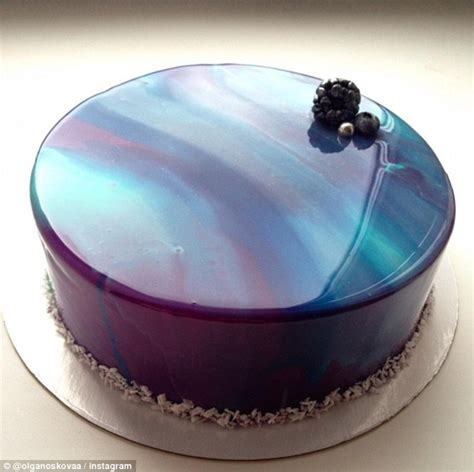 cake glaze russian baker s marble mirror desserts with flawless glaze look too good to eat daily mail online