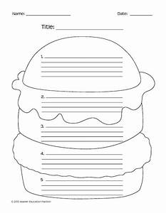 hamburger paragraph template search results calendar 2015 With burger writing template