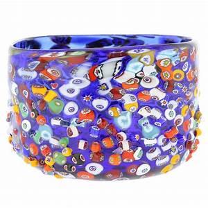 Murano Glass Vases Murano Glass Millefiori Mosaic Bowl