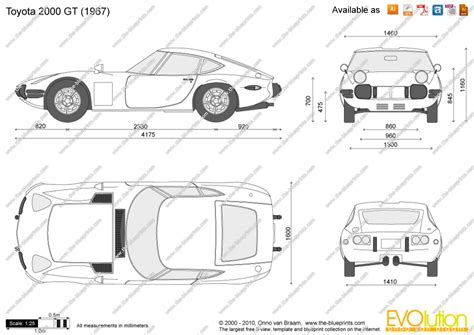 The-Blueprints.com - Vector Drawing - Toyota 2000 GT