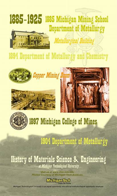 History Materials Department Michigan Metallurgy Engineering 1925