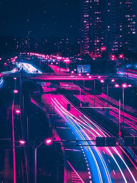 dystopianscty vaporwave motorway   neon