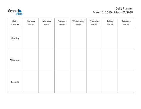 weekly calendar march    march