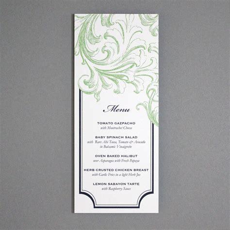 invitation template tea length florid scroll