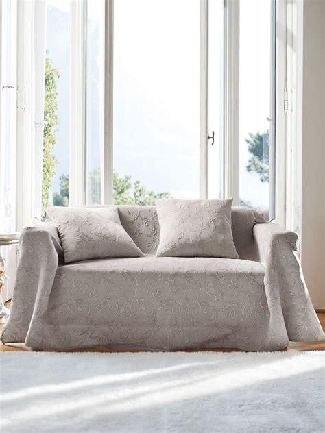 jetée de canapé hahn le jeté de canapé 160x250cm mastic