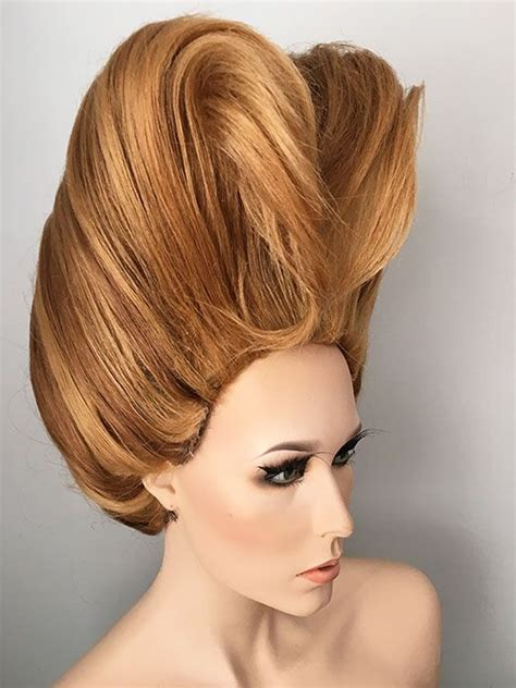 drag queen pageant ready wig updo hair sculpture