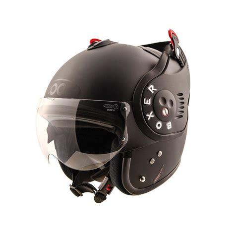 casque moto modulable ro5 boxer v8 full black roof noir mat
