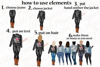 Friends Clipart Jeans Plus Legs Thehungryjpeg