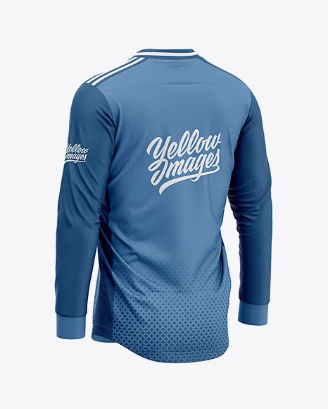 Can you provide free sample9 a: Men's Soccer V-Neck Jersey LS Mockup - Back Half-Side View ...