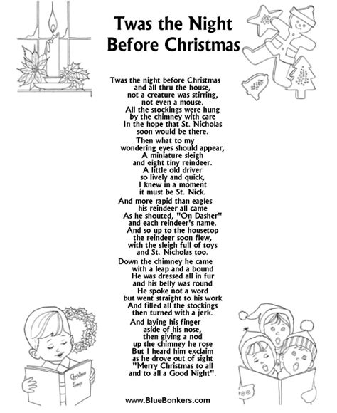 Bluebonkers Twas The Night Before Christmas, Free