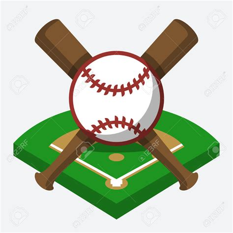 Baseball Field Clip Bat Clipart Baseball Field Pencil And In Color Bat