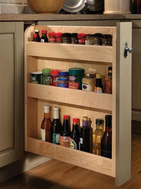 roll out spice racks for kitchen cabinets pull out spice cabinet wood mode custom cabinetry 9756