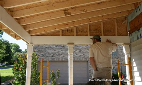 building  porch roof porch roof framing