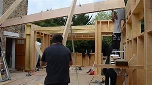 Extension Maison Préfabriquée : extension en ossature bois levage d 39 une poutre ~ Melissatoandfro.com Idées de Décoration
