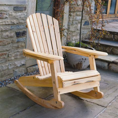 Porch Rocking Chair Plans by Bowland Outdoor Garden Patio Wooden Adirondack Rocker