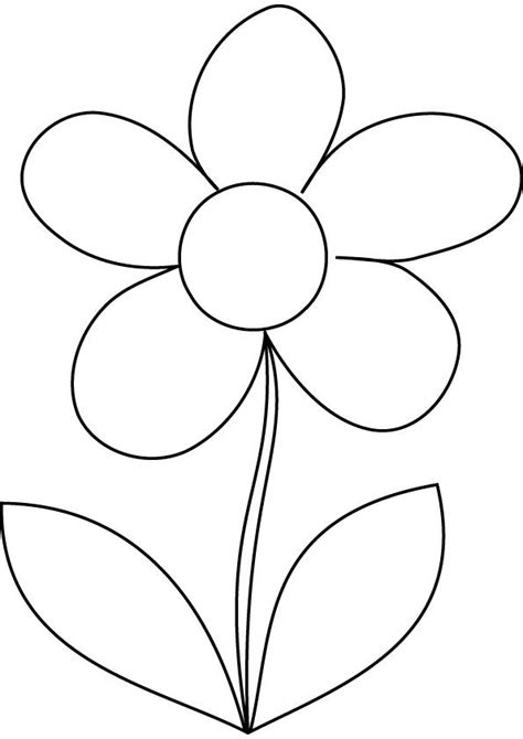 Free Coloring Pages Daisy Flower Creative Art