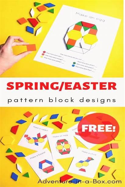 Spring Pattern Block Templates Preschool Easter Printable