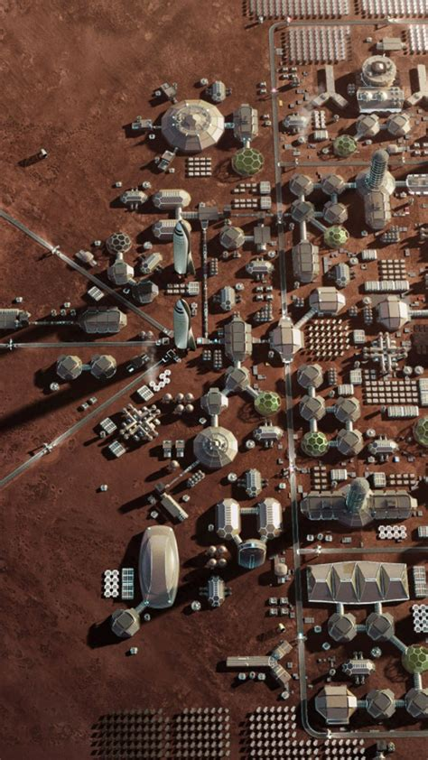wallpaper mars base mars colony space  hd space