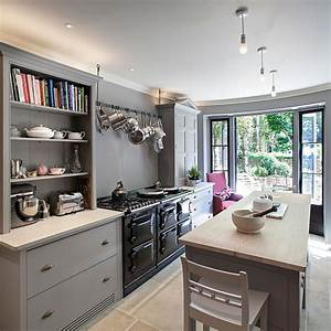 50 gorgeous gray kitchens that usher in trendy refinement With best brand of paint for kitchen cabinets with oversize wall art
