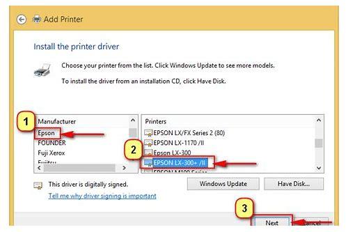 epson lx 310 dot matrix printer drivers for windows 7 32 bit