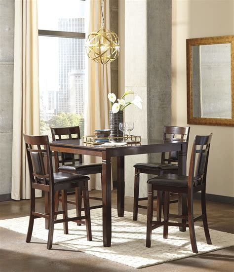 5 dining room sets bennox brown 5 counter height dining room set d384
