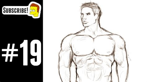 How To Draw Muscular Man Body Sketch