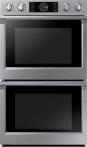 "Samsung 30"" Double Wall Oven Silver NV51K7770DS - Best Buy"