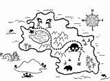 Coloring Treasure Map Pages Pirate sketch template