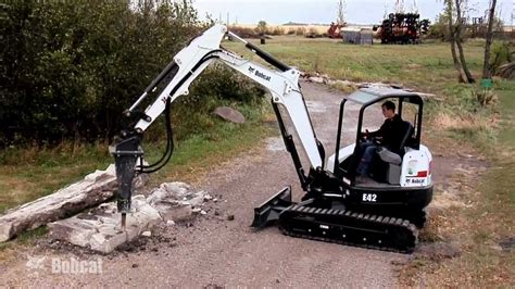 bobcat hydraulic breaker attachment youtube
