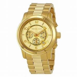 Michael Kors Gold-tone Men's Watch MK8077 - Runway ...