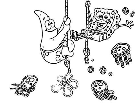 Best Friends Sponge Bob And Patrick At Jellyfish Garden