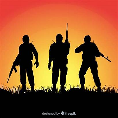 Army Soldier War Vectors Soldiers Silhouettes Military