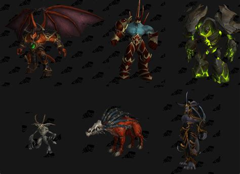 Patch 62  Updated Warlock Demon Models Wow